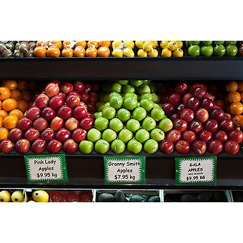 Apples for sale at grocery store on Oxford Street Paddington Sydney New South Wales Australia Poster Print