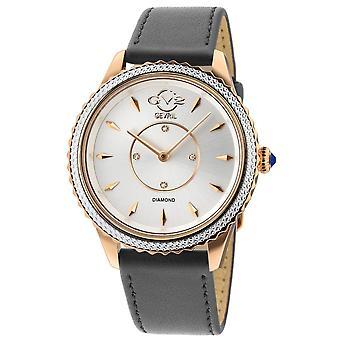 GV2 Sienne Femmes Cadran Argent Gris Vegan Strap Watch