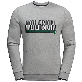 Jack Wolfskin Mens Slogan Sweatshirt Graphic Jumper Grey 1707391 6111