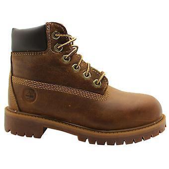حراس الأرض تيمبرلاند EK 6 بوصة الشباب الاطفال الدانتيل حتى براون الأحذية 80704 Z54B