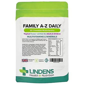 Lindens Family A-Z Daily Multivitamin Chewable 90 (6337)