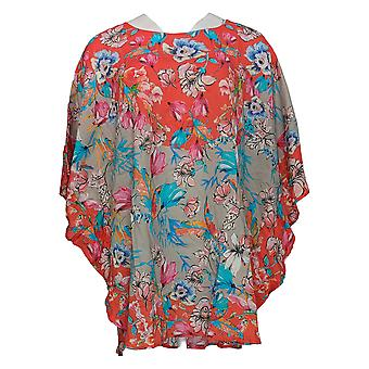 Tolani Women's Petite Top Narissa Poppy Floral Printed Top Red A347419