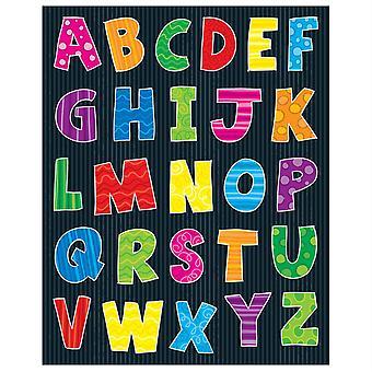 Autocollants de forme de lettres supérieures d'alphabet, 156 autocollants