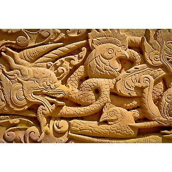 Fondo de pantalla Mural Temple Wall Pattern (172