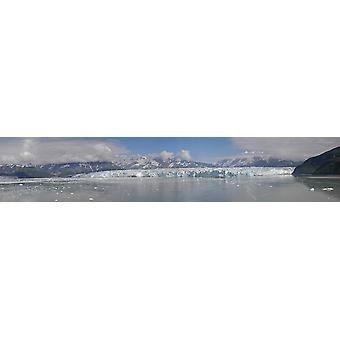 El glaciar Hubbard Poster Print