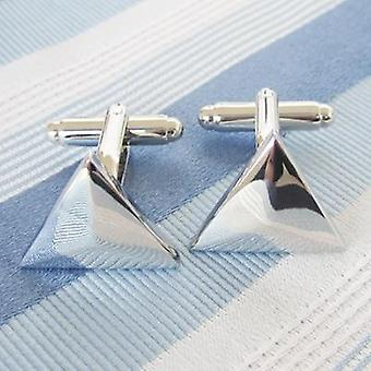 Acero Inoxidable Metal Cufflink Manguito Mayor Promoción