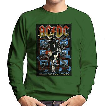 AC/DC Angus Young Blow Up Your Video Men's Sweatshirt