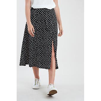 Louche Kiyo Marguerite impresión midi falda negra