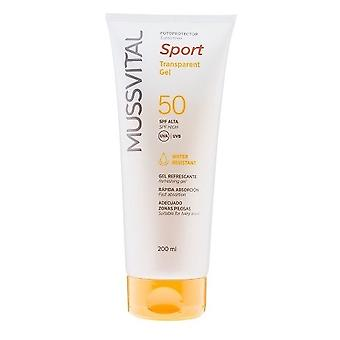 Mussvital Photoprotector Transparent Gel spf 50 of 200 ml