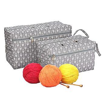 Yarn Storage Bag Organizer With Divider For Crocheting Knitting Organization