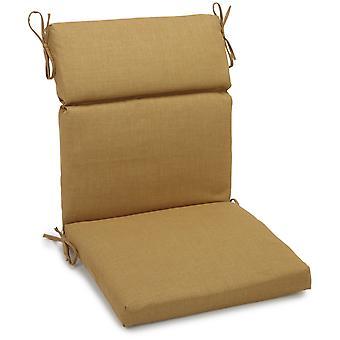 Coussin de chaise carrée extérieure en polyester de 22 pouces par 45 pouces - Blé