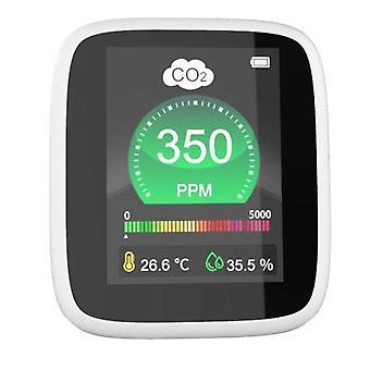 מנתח גלאי גז צג איכות אוויר co2 מטר פחמן דו חמצני גלאי טמפרטורה לחות לפקח co2 פונקציית אזעקה