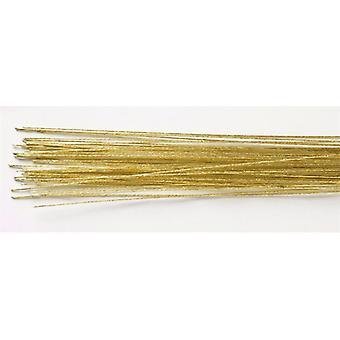 Fil fleuriste de couleur or - jauge 24 (0.56mm)