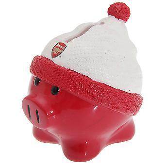 Arsenal FC virallinen keraaminen jalkapallo beanie hattu säästöpossu pankki