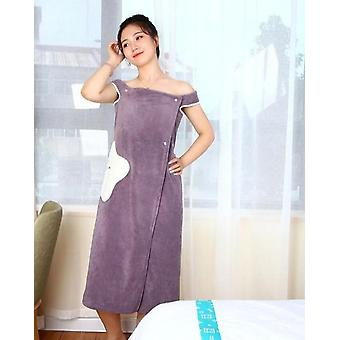 Wearable Bath Superfine Fiber Towels, Soft And Absorbent Chic Bathrobe