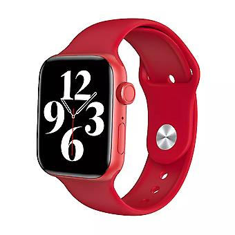 Chytré hodinky HW22 44mm červená