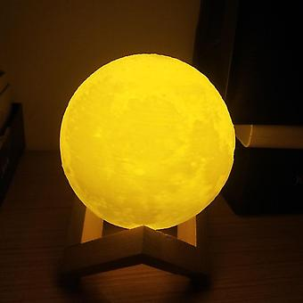 2 Colors Moon Lamp Usb Charger 3d Print Moon Light