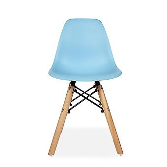Child Blue Table Set with 2 Blue Eiffel Chairs