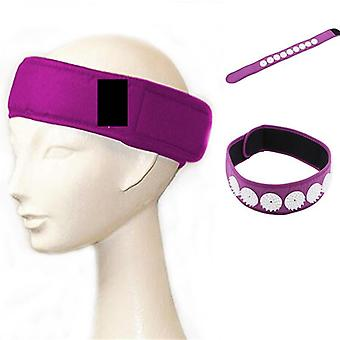 1Pcs Akupressur Massage Stirnband Kopf Akupressur wickelt Gürtel tragbare Stirnband entlasten Kopf Stress Massager Gesundheit Werkzeug