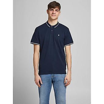 Jack & Jones Jersey Polo Shirt - Navy Blazer