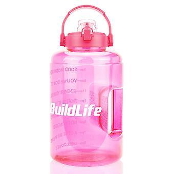 Motiverande breda munvattenflaskor med flip top, tidsmarkör och en klicköppning