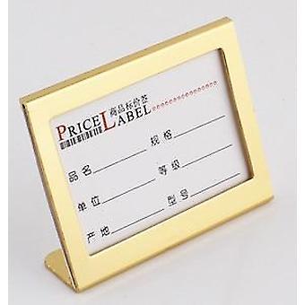 Lille størrelse L Figur Aluminium Tabel Tegn PrisSeddel Display Stand