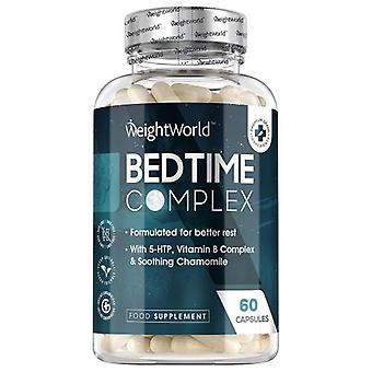 Bedtime Complex - Natural Sleep Supplement - With 5-HTP, Vitamin B & Chamomile - 60 Capsules
