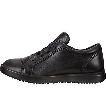 Ecco Girls Kids Elli Leather Casual School Walking Trainers Sneakers Shoes Black
