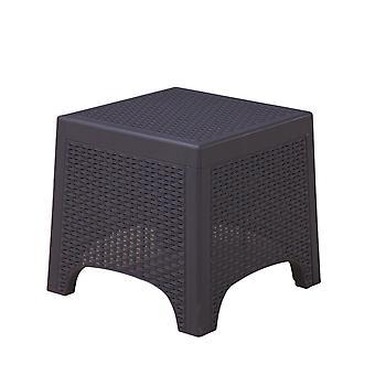 Set di mobili da giardino 3 pezzi con tavolino - Compresi i cuscini - Nero
