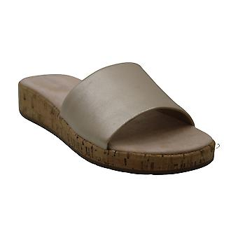 Easy Spirit Womens Semuscari Leather Open Toe Casual Slide Sandals