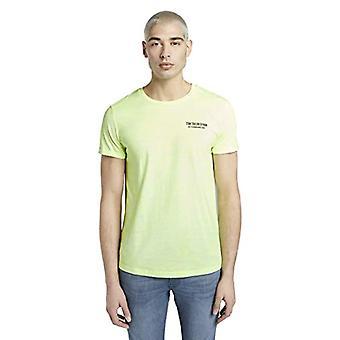 Tom Tailor Rundhals T-Shirt, 22762/White Neon Green Mel, S Homme