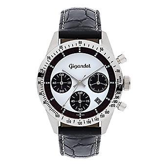 Gigandet G5-003 Men's watch, leather strap, color: black