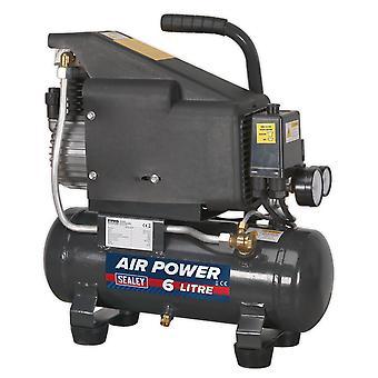 Sealey Sac0610E Compressor 6Ltr Direct Drive 1Hp