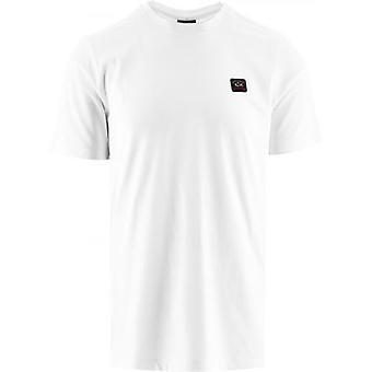 Paul och Shark White Heritage Logo Egyptisk bomull T-Shirt