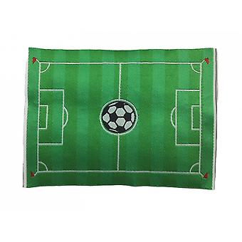Dolls House Green Football Pitch Rug Mat Miniature Child's Room Accessory 1:12