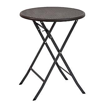 Coffee table garden 60 cm foldable – Rattan look black