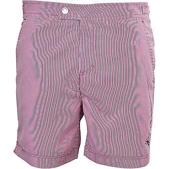 Ted Baker Stripe Swim Shorts, Purple/White
