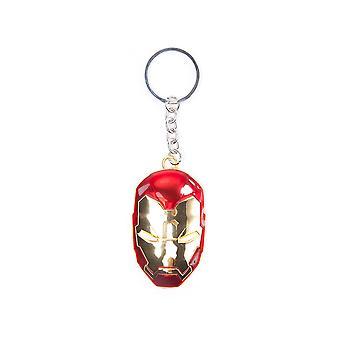 Marvel Comics - Iron Man Mask Unisex One Size Sleutelhanger - Goud/Rood