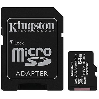Kingston Canvas Select Plus 64GB Micro SD UHS-I (U1) Tarjeta flash con adaptador