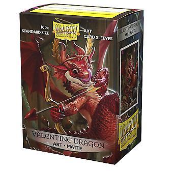 Dragon Shield Valentine Dragon Matte ART Card Sleeves -  100 Sleeves