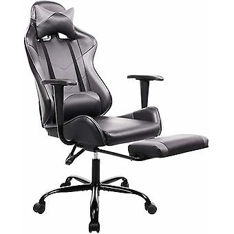 كرسي الألعاب مع مسند القدمين كرسي مكتب عالية الظهر الكمبيوتر