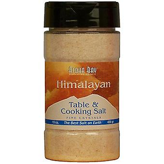 Aloha Bay Himalayan Salt Table and Cooking Salt, Cooking salt fine 15 OZ