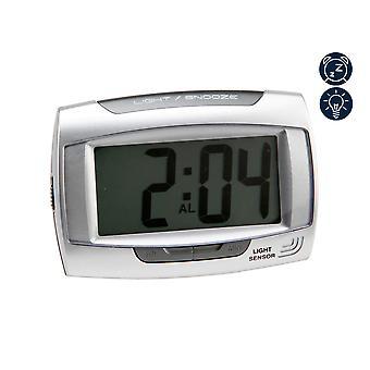WILLIAM WIDDOP LCD Digitale Wekker - Zilver