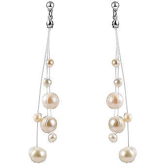 Long Earrings Fringe Non Piercing S925 Pin Freshwater Pearl Ear Clips For Wedding