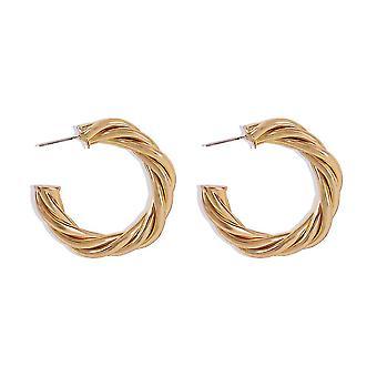 Ear Studs Geometric C Shape Twist Golden Alloy Jewelry Earrings For Wedding