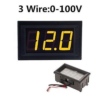 Digital voltmeter dc 4.5v to 30v digital voltmeter voltage panel meter red/blue/green for 6v 12v electromobile motorcycle car