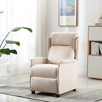 vidaXL Relax tuoli kerma kangas