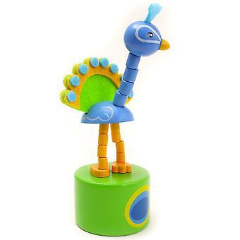 Peacock Push Up Toy - Cracker Filler Gift
