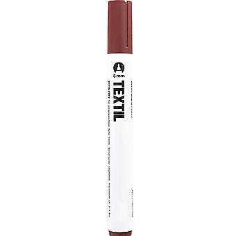 Brown Fabric Marker for Light Fabrics - Textile Painting Pen