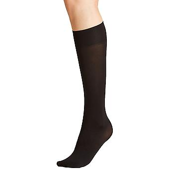 Falke Seidenglatt 40 Den Knee High Panty ' s - Zwart